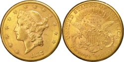 Us Coins - United States, Liberty Head, $20, Double Eagle, 1887,San Francisco,Gold, KM 74.3