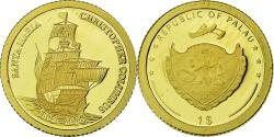 Ancient Coins - Palau, Christophe Colomb, Dollar, 2006, , Gold