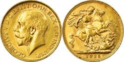 World Coins - Coin, Australia, George V, Sovereign, 1925, Melbourne, , Gold, KM:29
