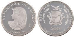 World Coins - Guinea, 500 Francs, 1970, , Silver, KM:24