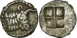 Ancient Coins - Coin, Macedon (autonomous), Acanthe, Hemiobol, AU(50-53), Silver
