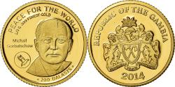 World Coins - Coin, GAMBIA, THE, Mikhaïl Gorbatchev, 200 Dalasis, 2014, , Gold