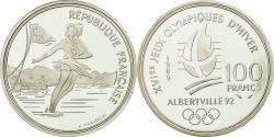 World Coins - Coin, France, Patinage, 100 Francs, 1989, BE, , Silver, KM:972