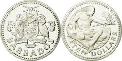 World Coins - Coin, Barbados, 10 Dollars, 1975, Franklin Mint, , Silver, KM:17a