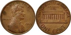 Us Coins - Coin, United States, Lincoln Cent, Cent, 1969, U.S. Mint, Philadelphia