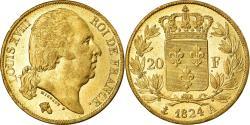 World Coins - Coin, France, Louis XVIII, Louis XVIII, 20 Francs, 1824, Paris, , Gold