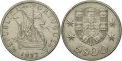 World Coins - Coin, Portugal, 5 Escudos, 1977, , Copper-nickel, KM:591