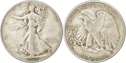 Us Coins - United States, Walking Liberty Half Dollar, Half Dollar, 1938, U.S. Mint