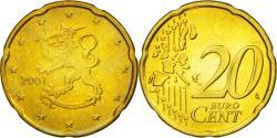 World Coins - Finland, 20 Euro Cent, 2001, , Brass, KM:102