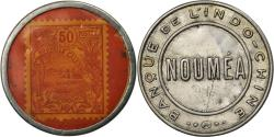 World Coins - Coin, Indochine, Banque de l'Indochine, Nouméa, 50 Centimes, Timbre-Monnaie