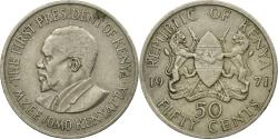 World Coins - Coin, Kenya, 50 Cents, 1971, , Copper-nickel, KM:13