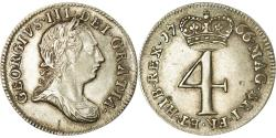 World Coins - Coin, Great Britain, George III, 4 Pence, Groat, 1766, , Silver
