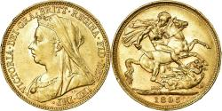 World Coins - Coin, Australia, Victoria, Sovereign, 1895, Melbourne, , Gold, KM:13
