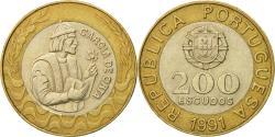 World Coins - Coin, Portugal, 200 Escudos, 1991, , Bi-Metallic, KM:655