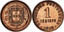 World Coins - Coin, Portugal, Centavo, 1918, , Bronze, KM:565