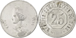 World Coins - France, 25 Centimes, 1917, , Aluminium, Elie #10.2, 1.23