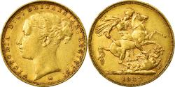 World Coins - Coin, Australia, Victoria, Sovereign, 1885, Melbourne, , Gold, KM:7