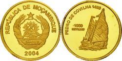 World Coins - Coin, Mozambique, Pedro de Covilha, 1000 Meticais, 2004, , Gold