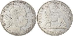 World Coins - Coin, Ethiopia, Menelik II, Birr, 1897, Paris, , Silver, KM:5