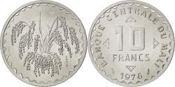World Coins - MALI, 10 Francs, 1976, KM #E3, , Aluminum, 1.55