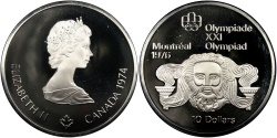 World Coins - CANADA, 10 Dollars, 1974, Royal Canadian Mint, KM #93, , Silver, 45, 48.60