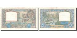 World Coins - France, 20 Francs, Science et Travail, 1940, 1940-06-06, AU(50-53)