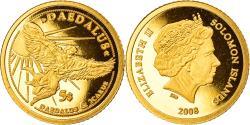 World Coins - Coin, Solomon Islands, Daedalus, 5 Dollars, 2008, , Gold