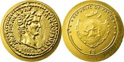 World Coins - Coin, Palau, Dollar, 2010, Tiberius, , Gold