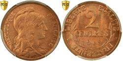 World Coins - Coin, France, Dupuis, 2 Centimes, 1919, Paris, PCGS, MS65RD, Bronze, KM:841