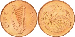 World Coins - IRELAND REPUBLIC, 2 Pence, 1996, , Copper Plated Steel, KM:21a
