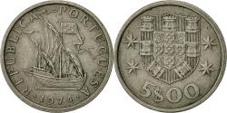 World Coins - Portugal, 5 Escudos, 1974, , Copper-nickel, KM:591