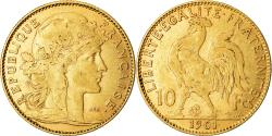 World Coins - Coin, France, Marianne, 10 Francs, 1901, Paris, EF(40-45), Gold, KM:846