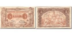 World Coins - Banknote, Belgium, 5 Francs, 1914, 1914-07-01, KM:74a, AU(50-53)