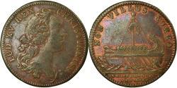 World Coins - France, Jeton, Colonies françaises de l'Amérique, Louis XV, 1755,