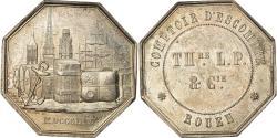 World Coins - France, Token, Savings Bank, Comptoir d'Escompte de Rouen, 1854, Hamel