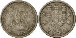 World Coins - Portugal, 2-1/2 Escudos, 1970, , Copper-nickel, KM:590