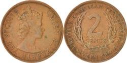World Coins - East Caribbean States, Elizabeth II, 2 Cents, 1965, , Bronze, KM:3