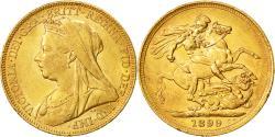 World Coins - Coin, Australia, Victoria, Sovereign, 1899, Melbourne, AU(50-53), Gold, KM:13