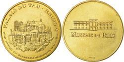 World Coins - France, Token, Touristic token, 51/ Palais du Tau - Reims, 1998, MDP,