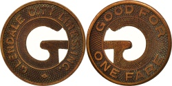 Us Coins - United States, Token, Glendale City Lines Incorporated