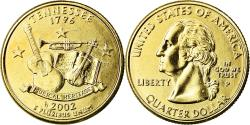 Us Coins - Coin, United States, Tennessee, Quarter, 2002, U.S. Mint, Philadelphia, golden