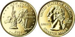 Us Coins - Coin, United States, Quarter, 2001, U.S. Mint, Denver, golden,