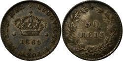World Coins - Coin, Portugal, Luiz I, 50 Reis, 1863, Paris, , Silver, KM:506.1