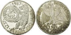 World Coins - Coin, GERMANY - FEDERAL REPUBLIC, 10 Mark, 1987, Hamburg, Germany, MS(60-62)