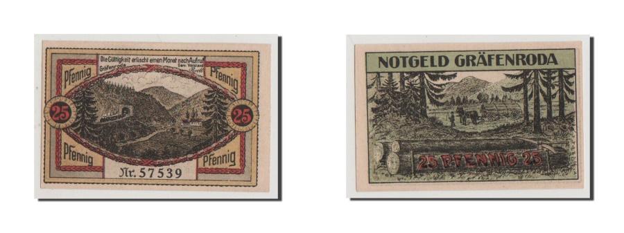 World Coins - Germany, Grafenroda, 25 Pfennig, UNC(65-70), 57539, Mehl #462.1