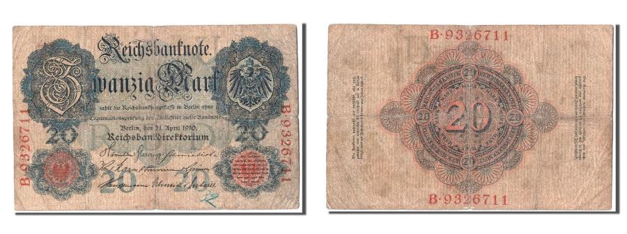 World Coins - Germany, 20 Mark, 1910, KM #40b, 1910-04-21, VF(20-25), B.9326711