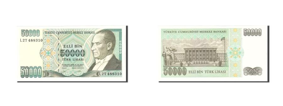 World Coins - Turkey, 50,000 Lira, 1970, KM:204, Undated, UNC(65-70)
