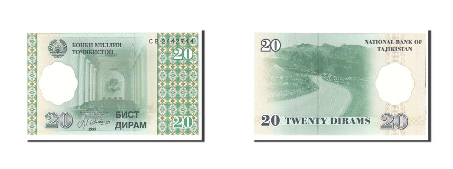 World Coins - Tajikistan, 20 Diram, 1999, Undated, KM:12a, UNC(63)