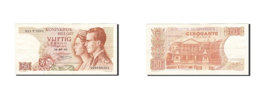 World Coins - Belgium, 50 Francs, 1964-1966, KM:139, 1966-05-16, EF(40-45)