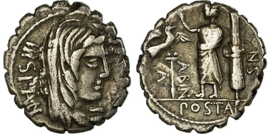 Ancient Coins - Coin, Postumia, Denarius, Rome, EF(40-45), Silver, Babelon:8